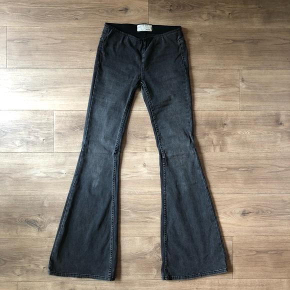 Free People Denim - Free People Flare Jean in Charcoal